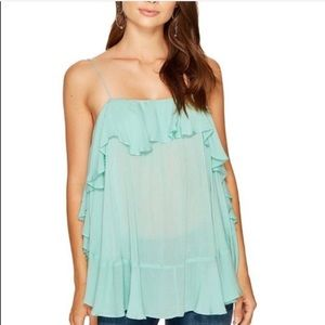 Intimately free people aqua cascade camisole M